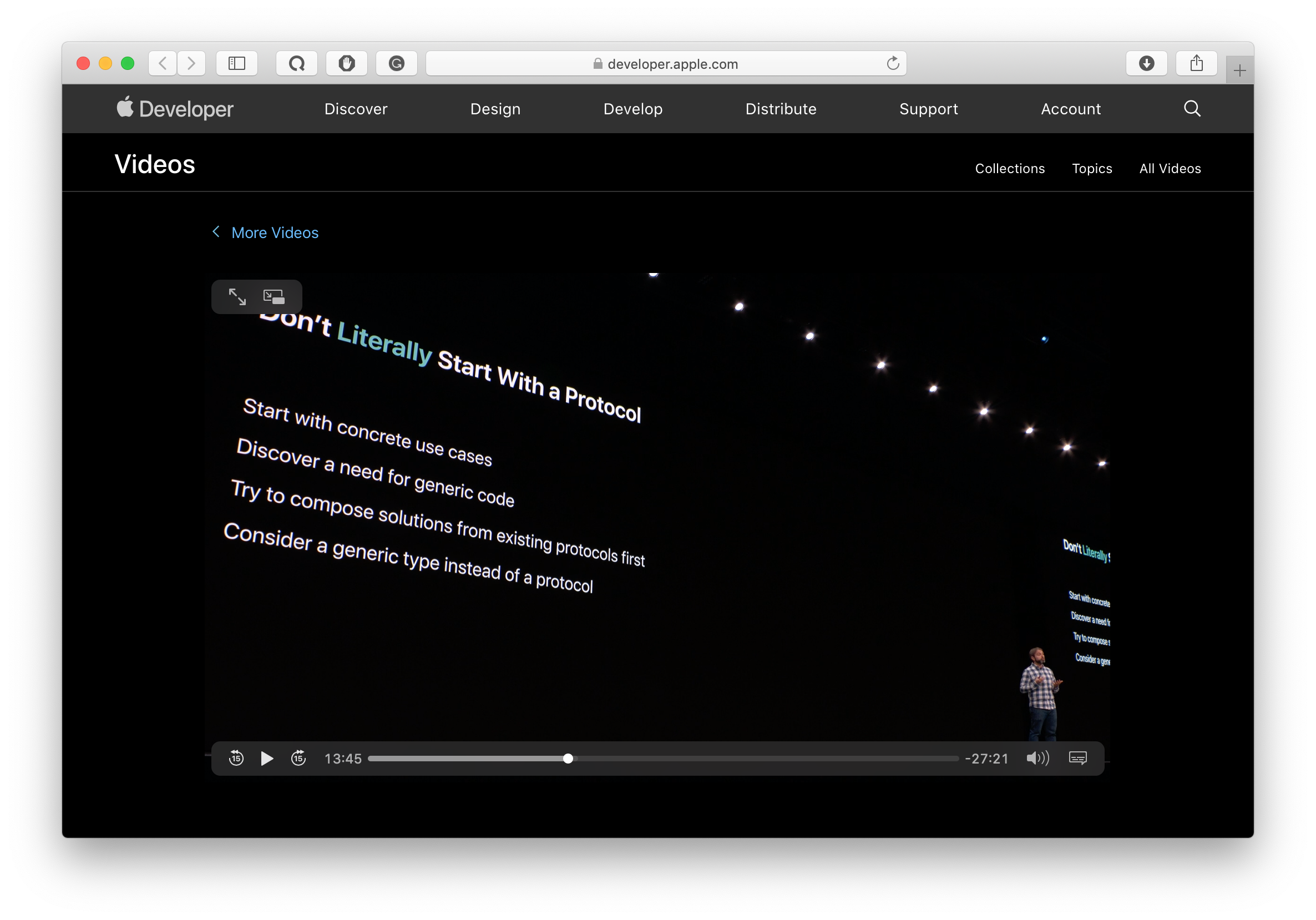 apple new recommendation to not start with a protocol from moderns swift api design WWDC 2019