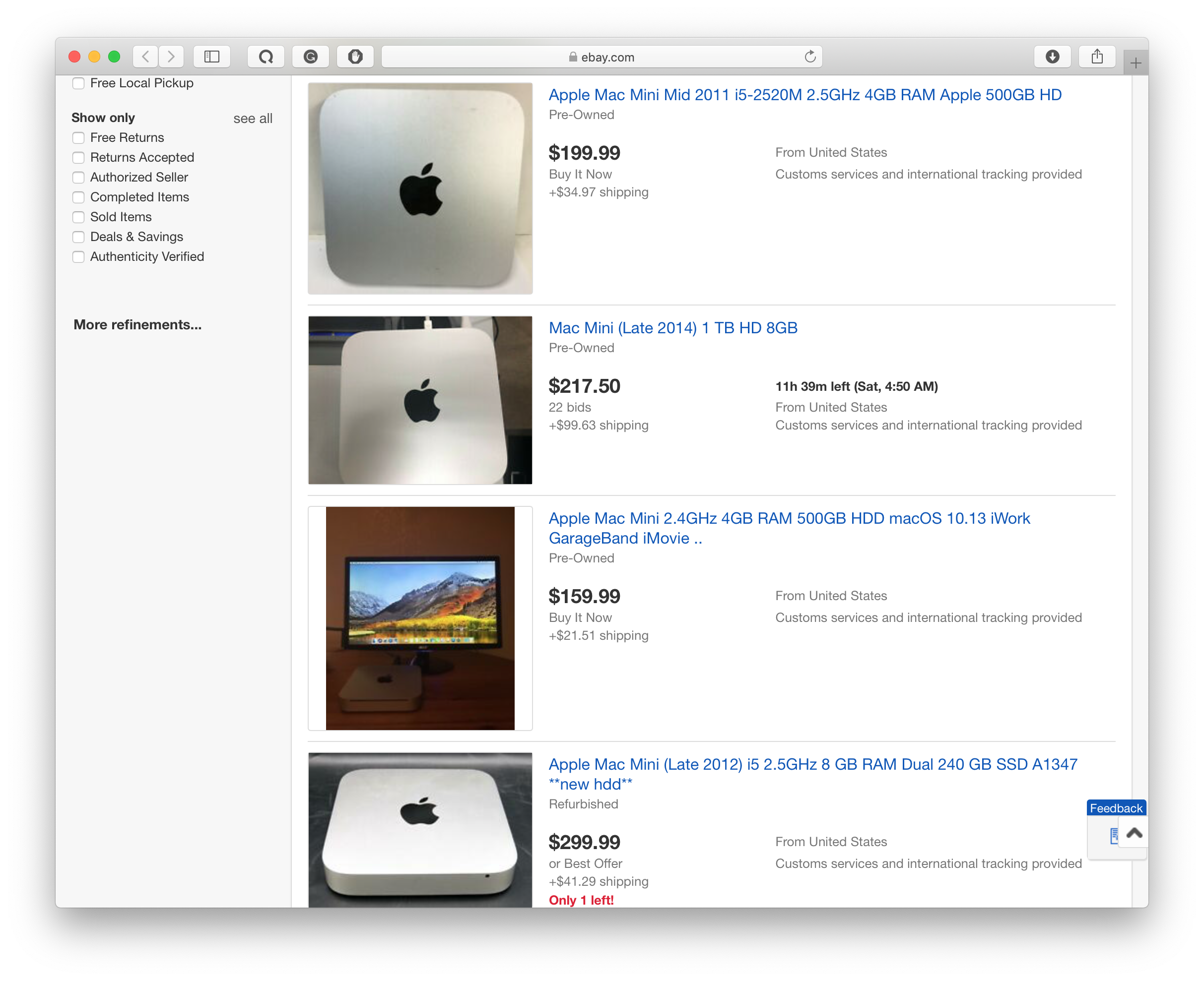 cheap Mac minis on eBay