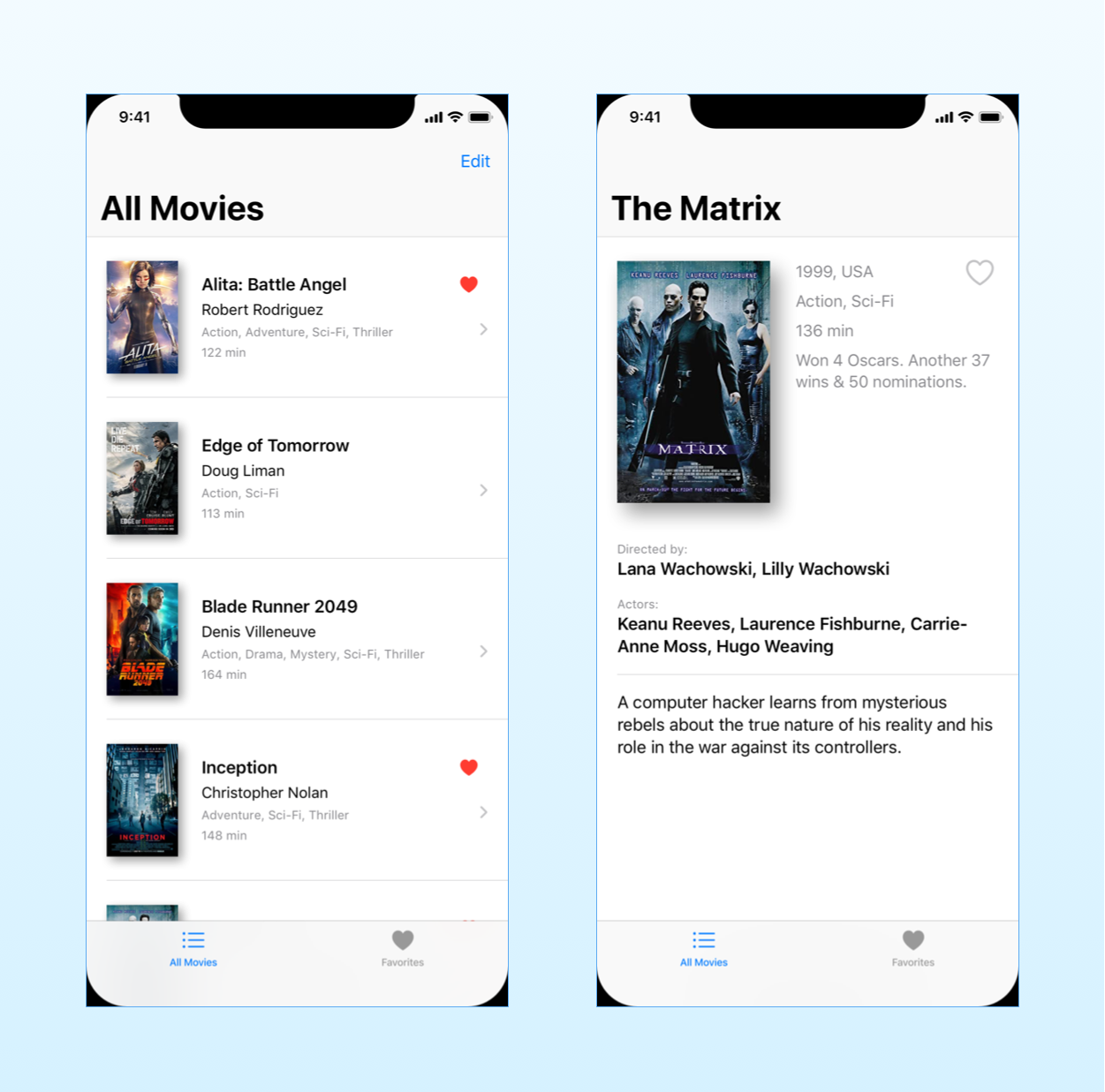 The mockup of the SwiftUI app we will create